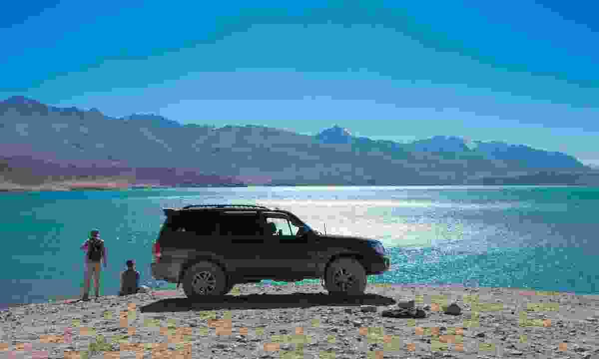 Parking at Lake Yashikul on the Pamir Highway, Tajikistan (Shutterstock)