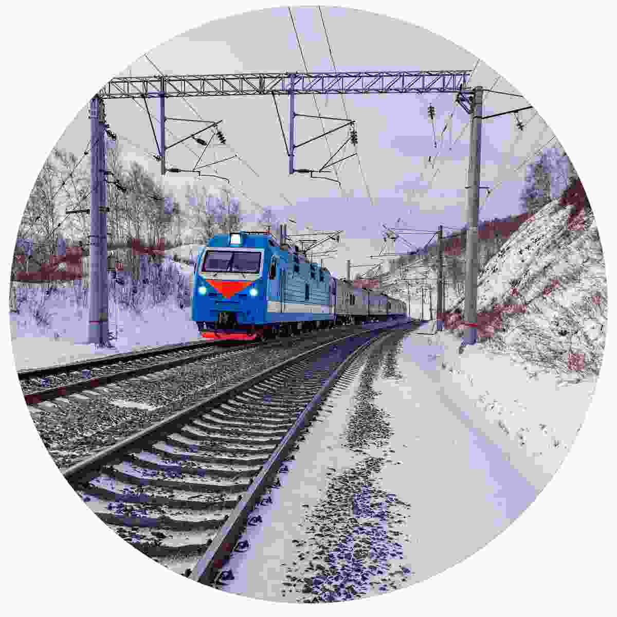 The Trans-Siberian railway in winter (Shutterstock)