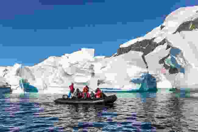 Icebergs near Cuverville island, Antarctica (Shutterstock)