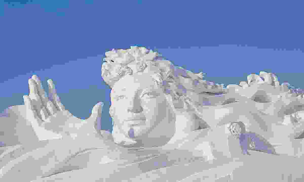 Ice sculpture at Harbin Snow and Ice Festival, China  (Dreamstime)