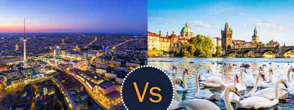 Berlin vs Prague (Shutterstock)