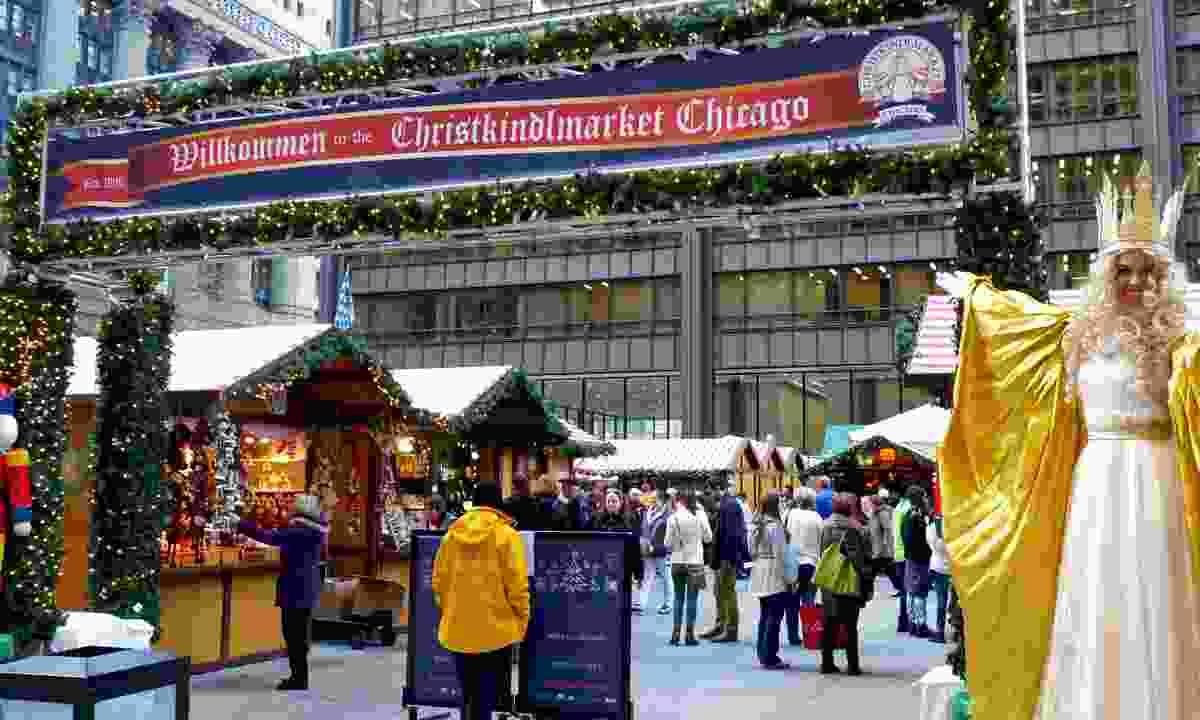 Christkindlmarket Entrance with Christkind (Christkindl)