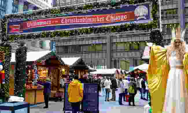 Christkindlmarkt Entrance with Christkind (Christkindl)