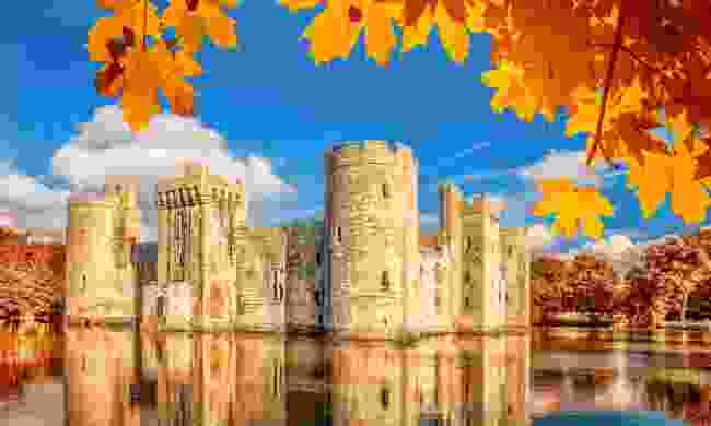 Bodiam Castle in East Sussex (Dreamstime)