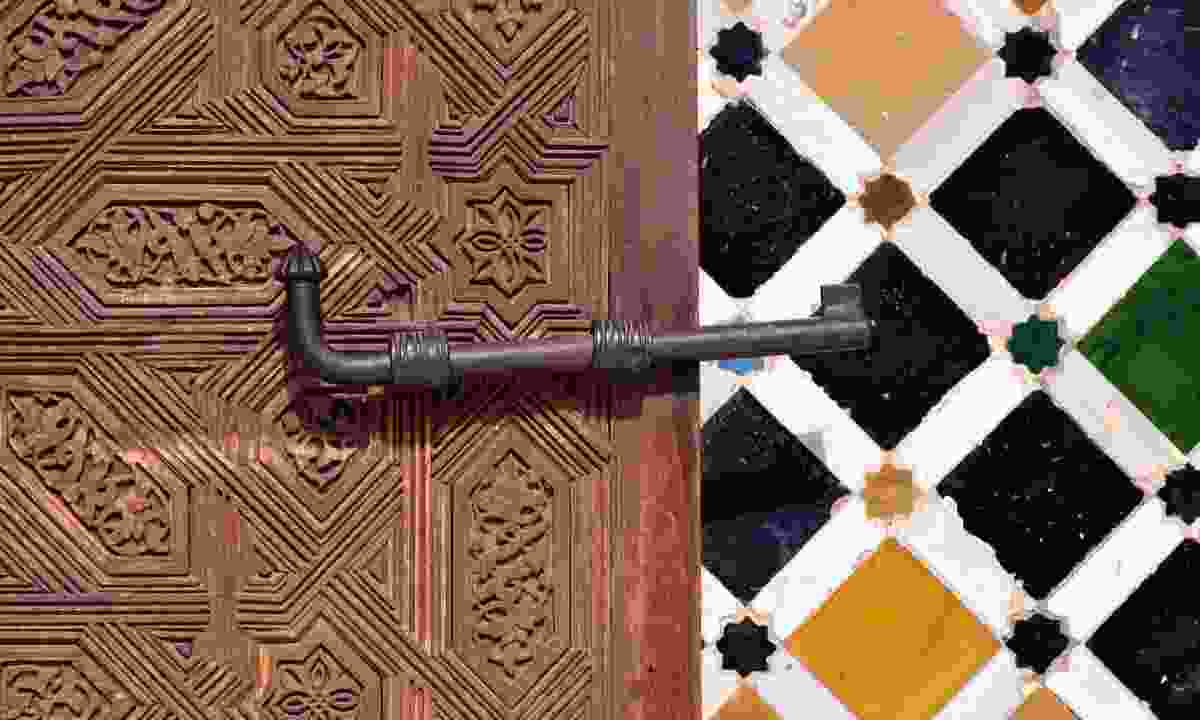 Close-up of door in the Alhambra Palace (Shutterstock)