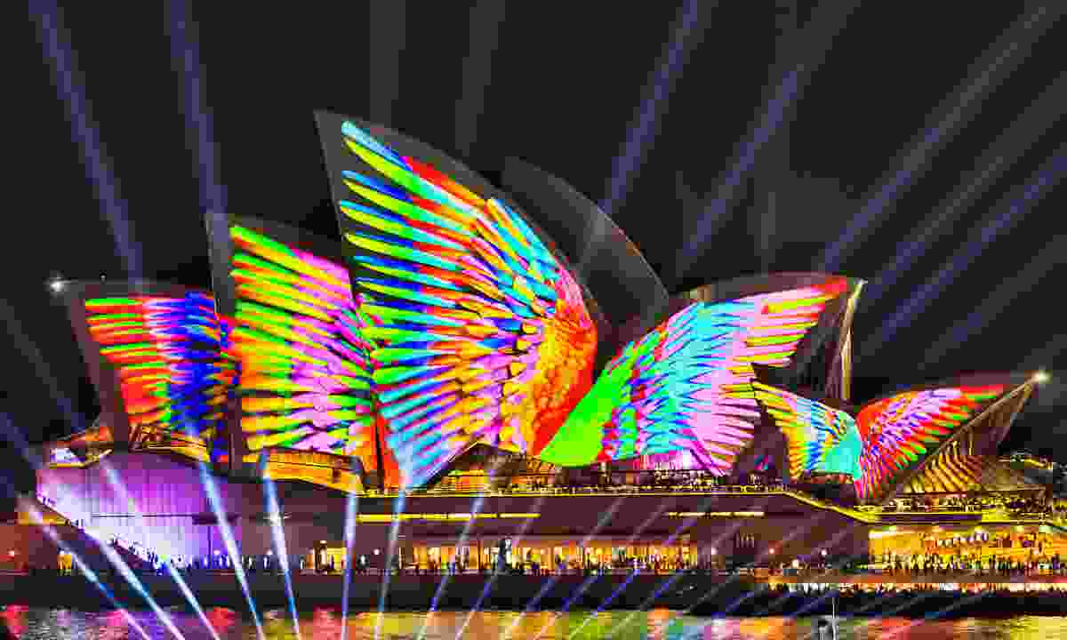The Sydney Opera House during Vivid (Shutterstock)