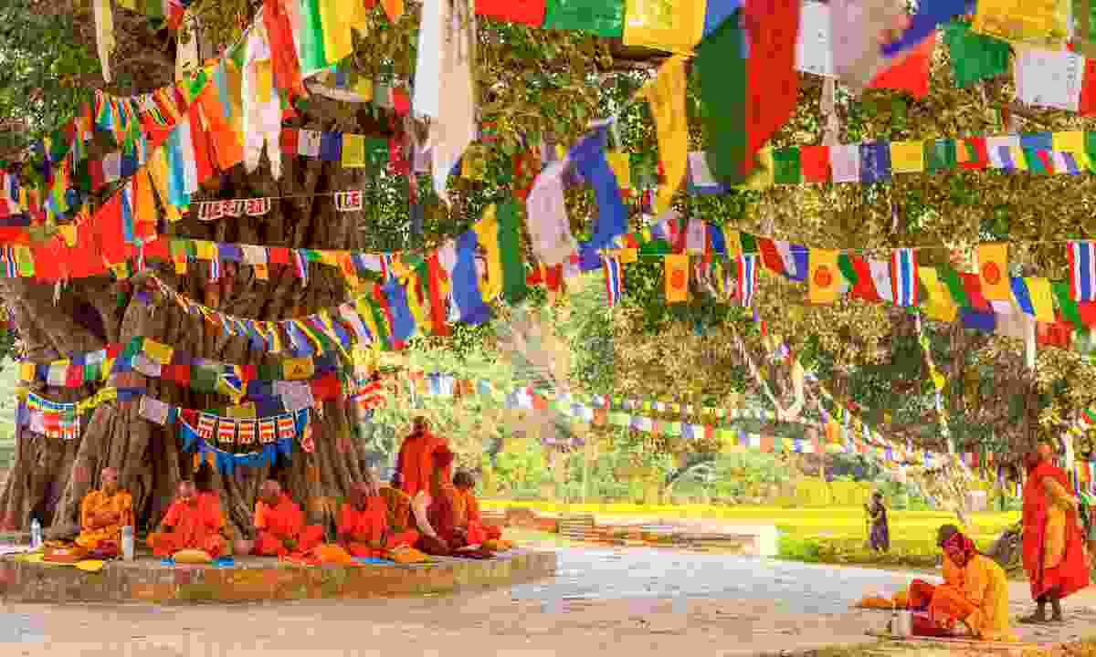 Pilgrims visit the birthplace of Buddha (Shutterstock)