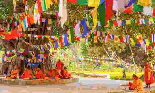 Pilgrims visit the birthplace of Buddha (Shutterstock)
