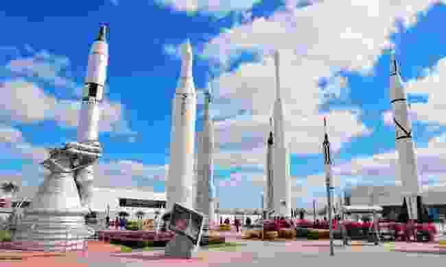 The rocket garden at Kennedy Space Center (Shutterstock)