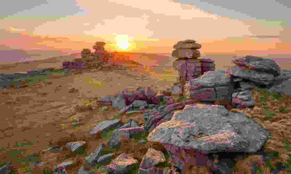 Sunset on Great Staple Tor (Shutterstock)