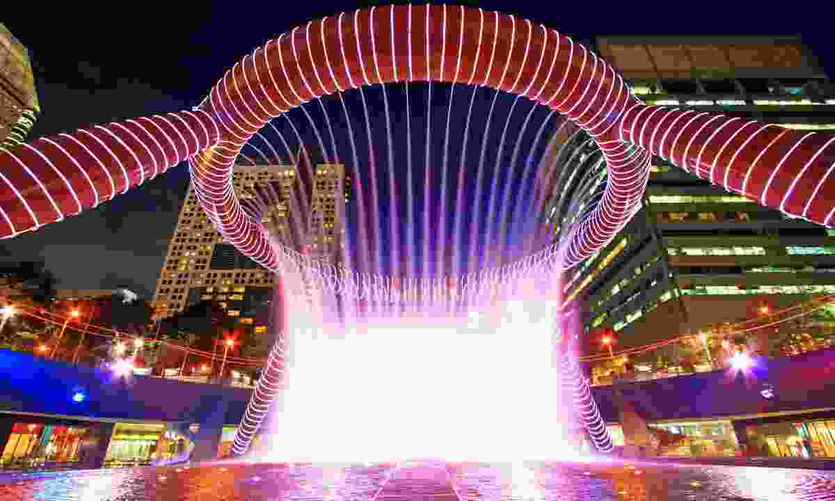 Fountain of Wealth at night (Shutterstock)