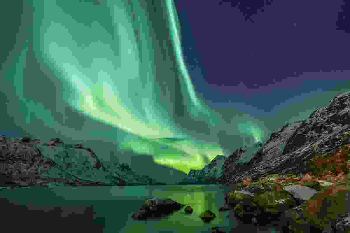 Northern lights over Tromso, Lapland. (Dreamstime)