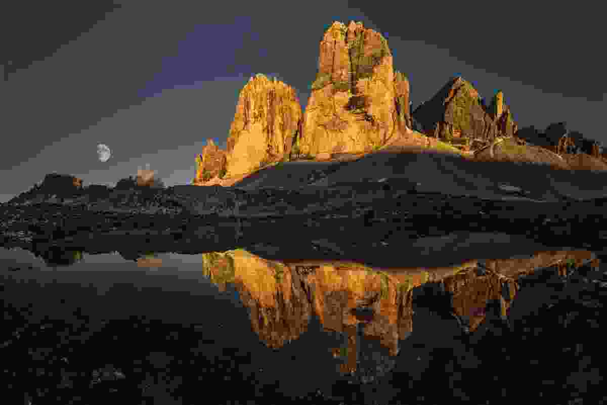 The Tre Cime at sunset (James Rushforth)