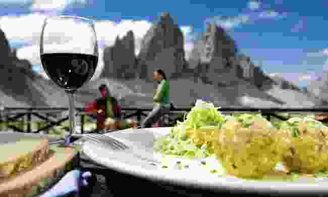 You won't be able to decide what's better - the food or the views (Drei Zinnen Marketing/ H Rier)