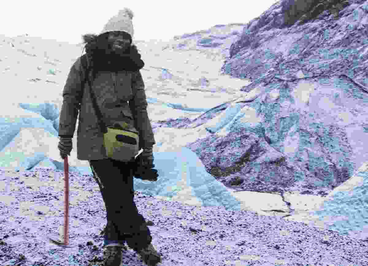 Hiking a glacier in Iceland. (Jessica Nabongo)