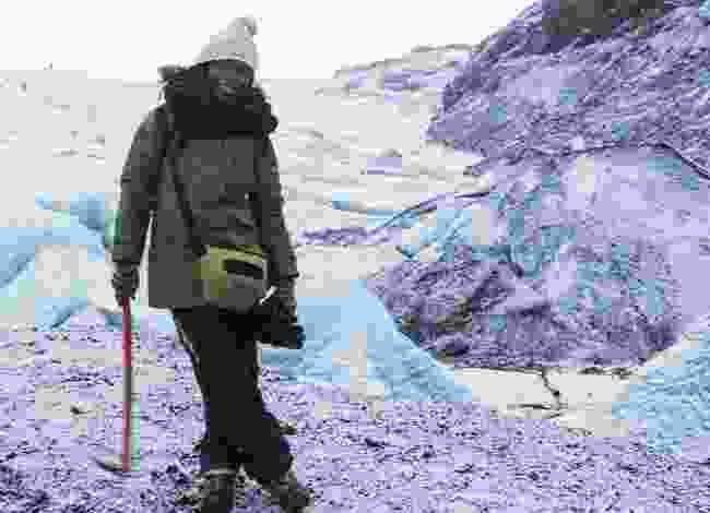 Hiking a glacier in Iceland. (Jessica Nabongo)