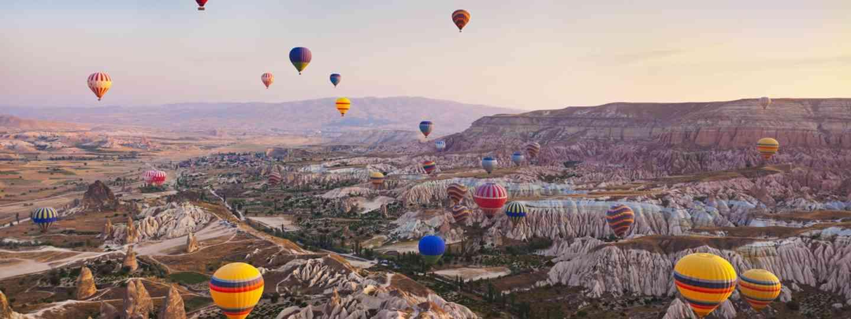 Dawn balloon ride over Cappadocia, Turkey (Dreamstime)