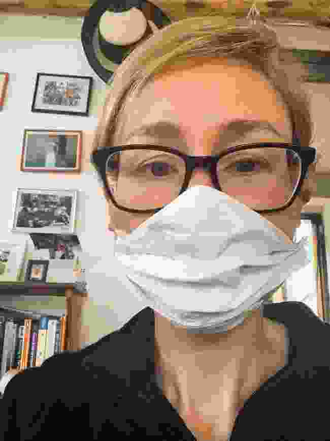 Sarah's homemade mask (Sarah Baxter)