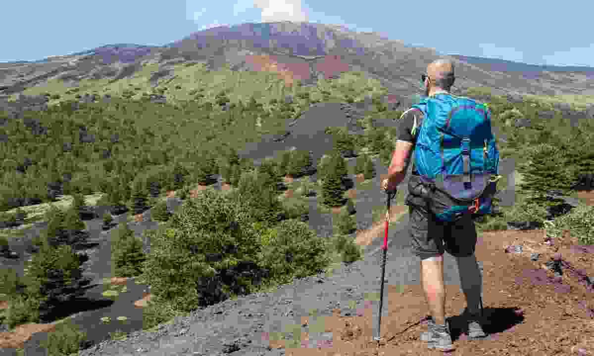 Admiring the view of Mount Etna (Shutterstock)