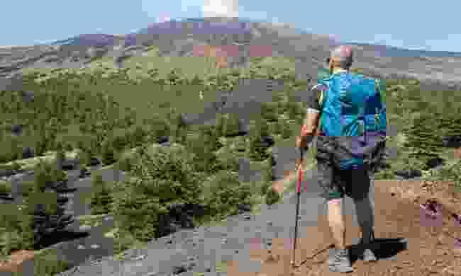Admiring the view of Mount Etna (Shutterstock)