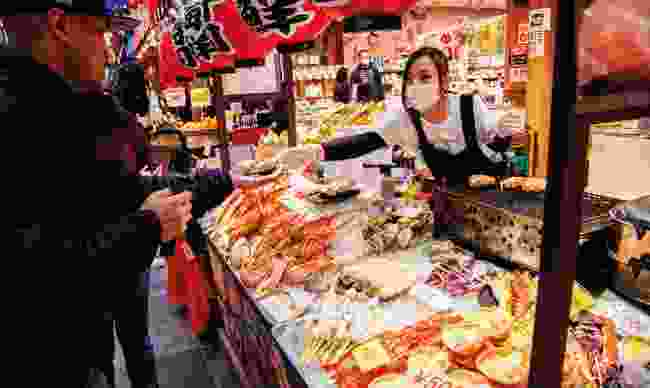 Kuromon Ichiba Market is the place to go if you're a food lover (Shutterstock)