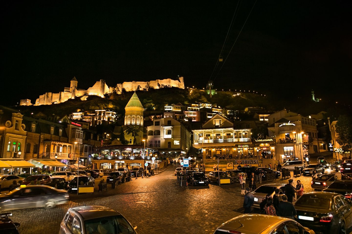 Tbilisi comes to life at night (Shutterstock)