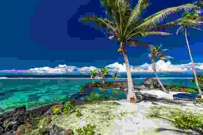 The pristine beach of Upolu, Samoa (Shutterstock)