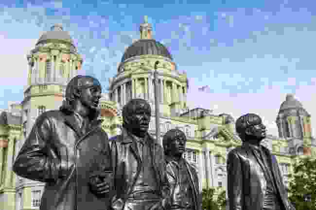 A statue of The Beatles in Liverpool (Shutterstock)