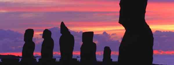 Moai on Easter Island (Shutterstock)