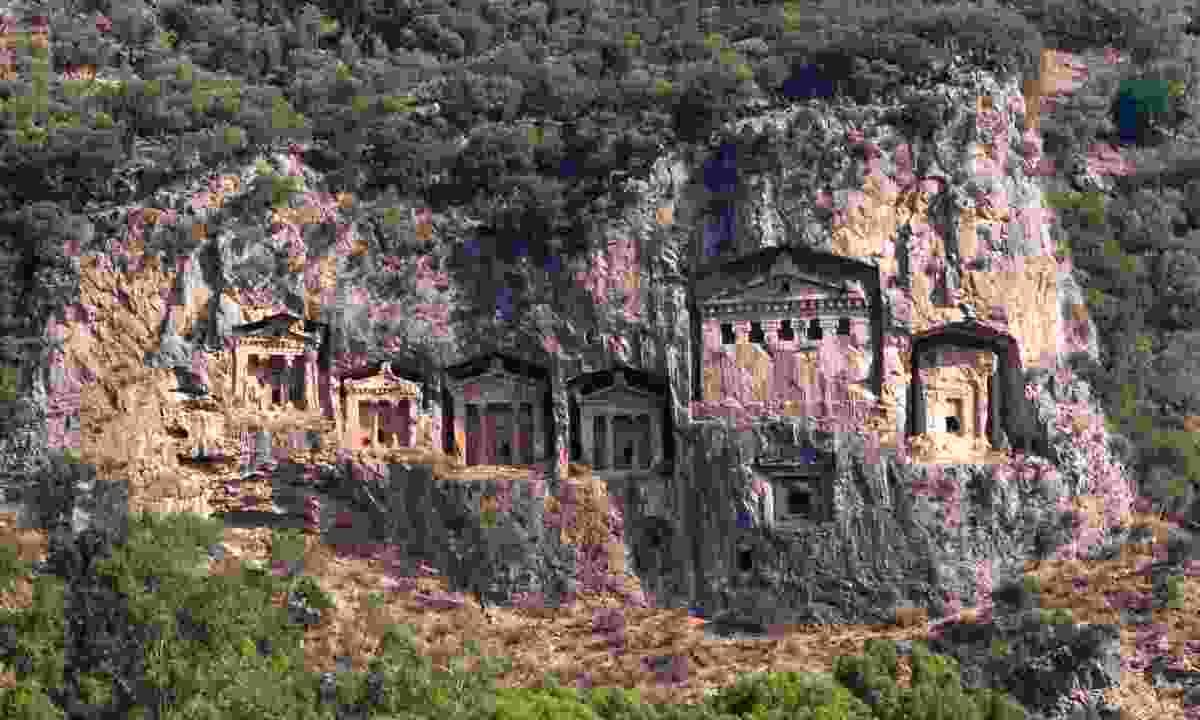 Lycian tombs near Dalyan (Dreamstime)