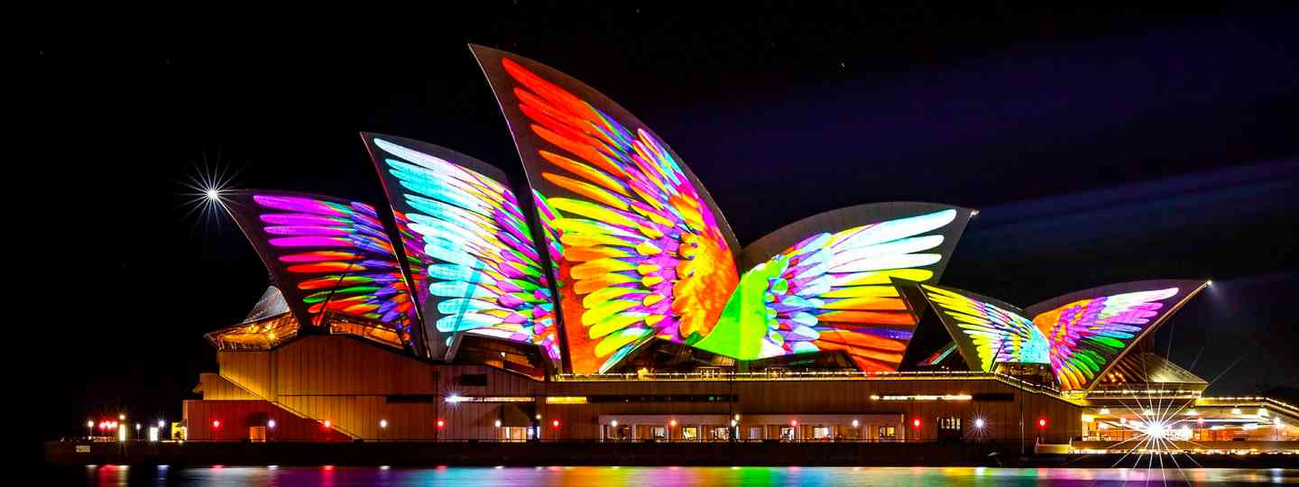 Sydney Opera house during the Vivid Festival (VividSydney)
