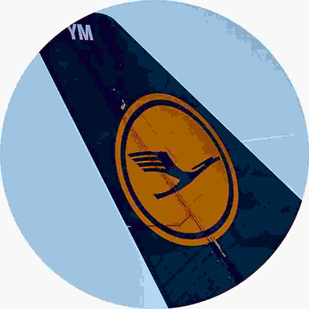 Lufthansa features stylised crane in flight, designed by Otto Firle in 1918 (Shutterstock)