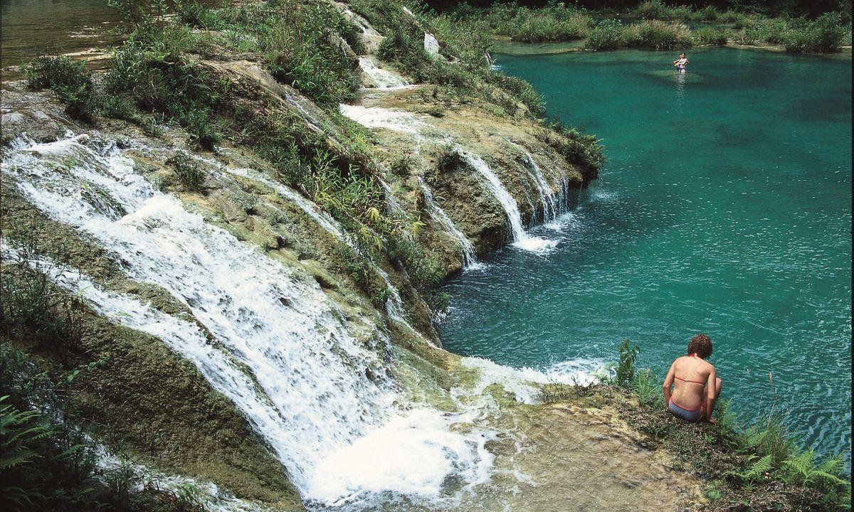 Enjoying a dip at Semuc Champey (Select Latin America)