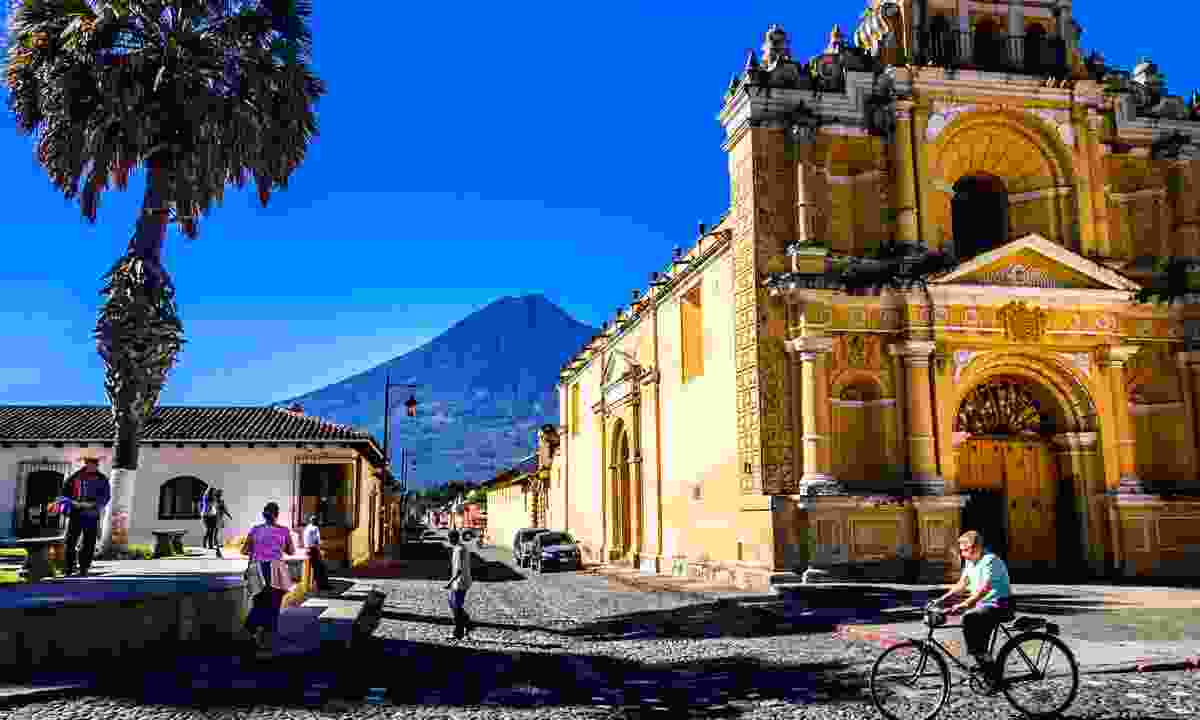 Cycling the streets of Antigua (Dreamstime)