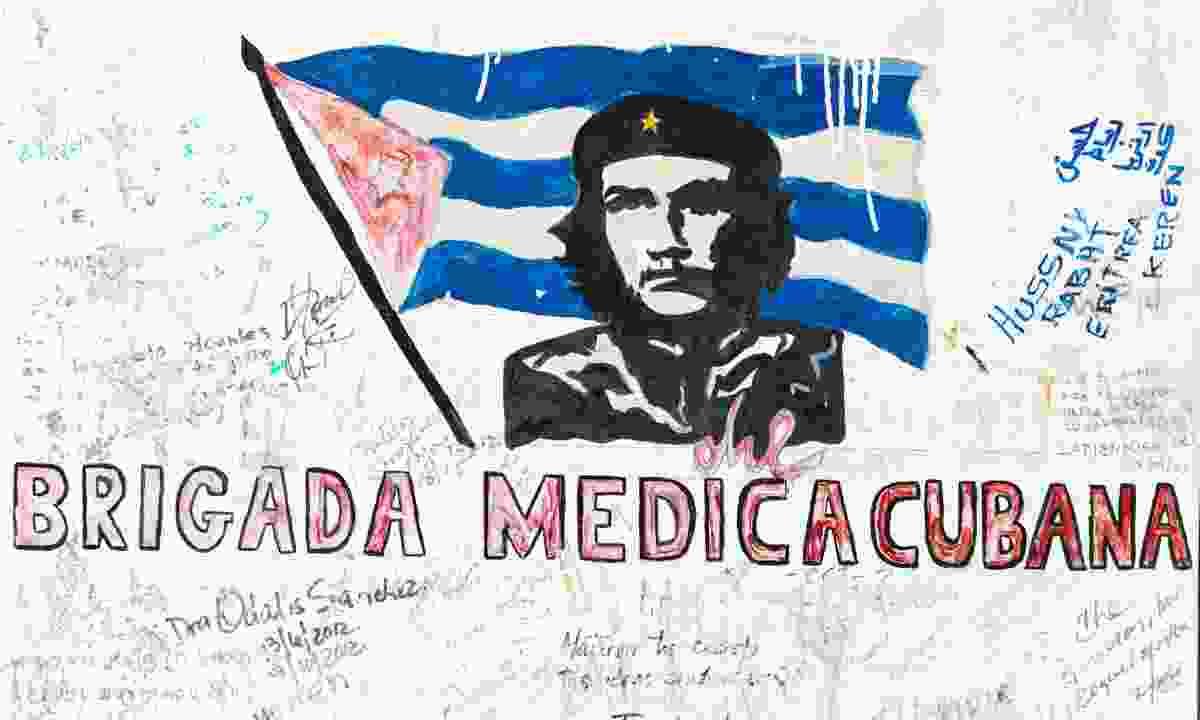 Che Guevara graffiti in Vallegrande, Bolivia (Dreamstime)