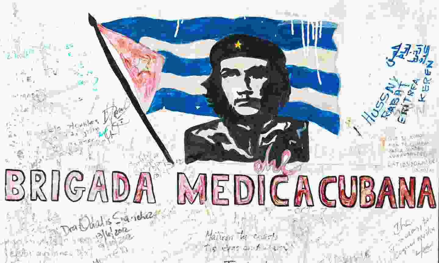 Che Guevara graffiti in Vallegrande, Bolivia (Dreamstime)
