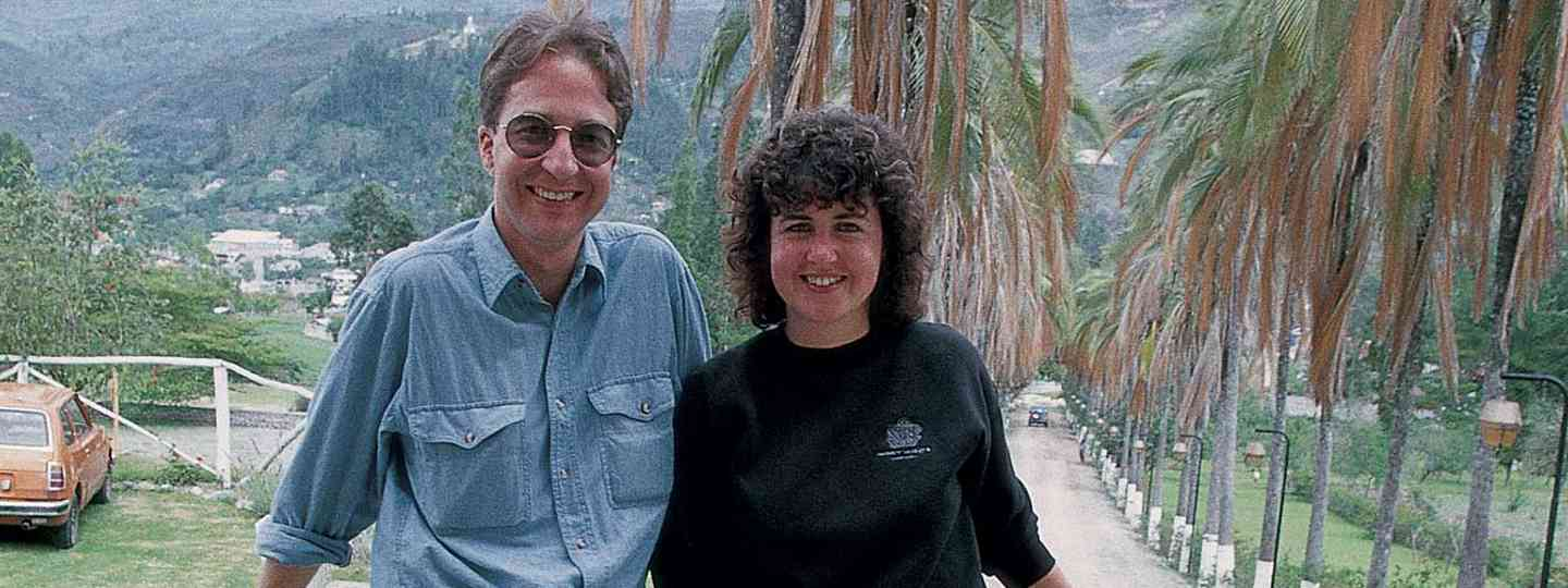 Paul and Lyn in Ecuador, on the trip where they first thought up Wanderlust