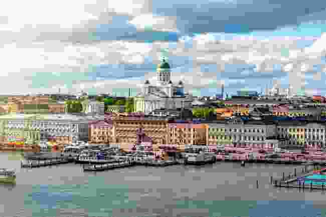 Helsinki's skyline, seen from Market Square (Shutterstock)