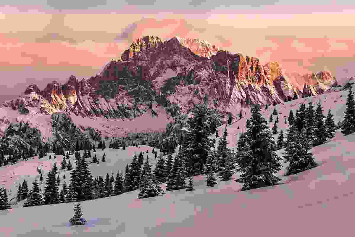 Monte Civetta as seen from Cherz (James Rushforth)