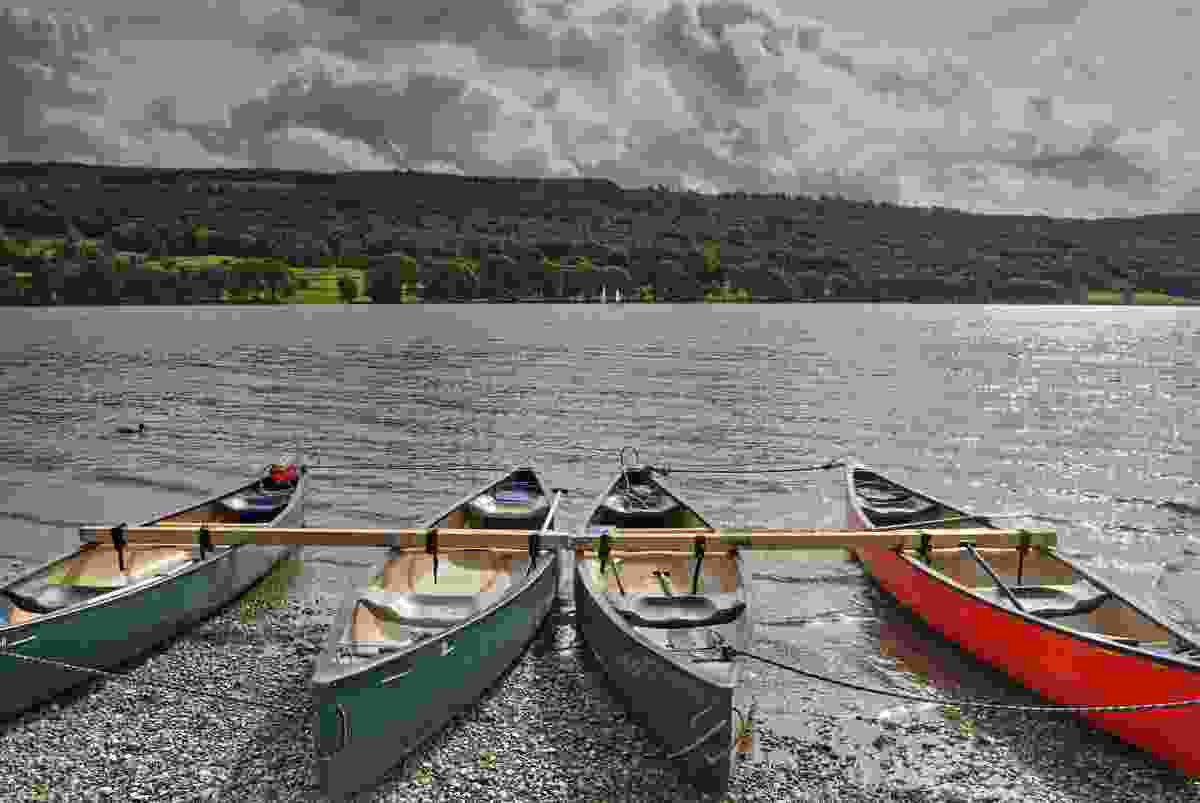 Canoes on the Lake District (Shutterstock)