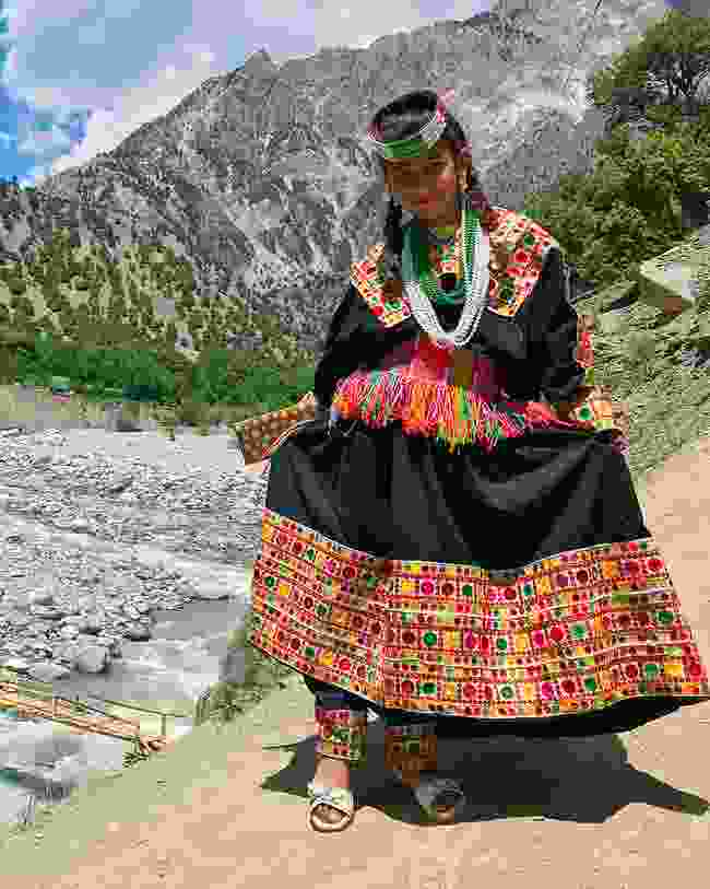 A Kalash girl in traditional piran dress (Emma Thomson)