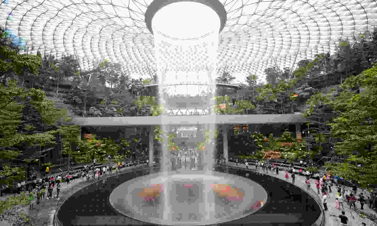 The brand new Rain Vortex is the largest indoor waterfall in the world (Shutterstock)