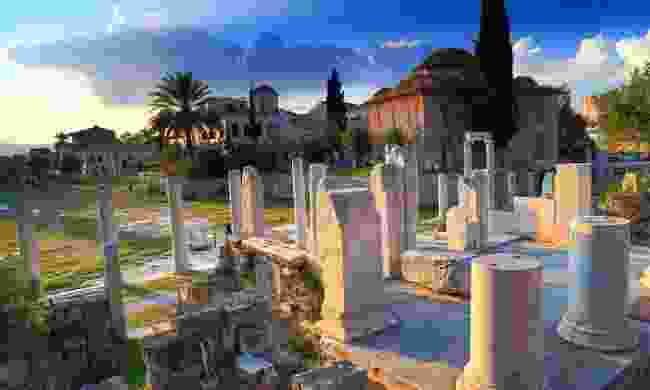 The the crumbling Agora ruins (Shutterstock)