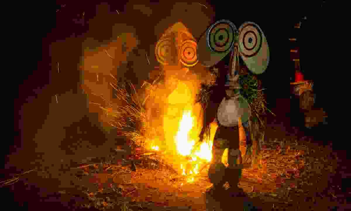 Baining fire-dancers (PNGTPA)