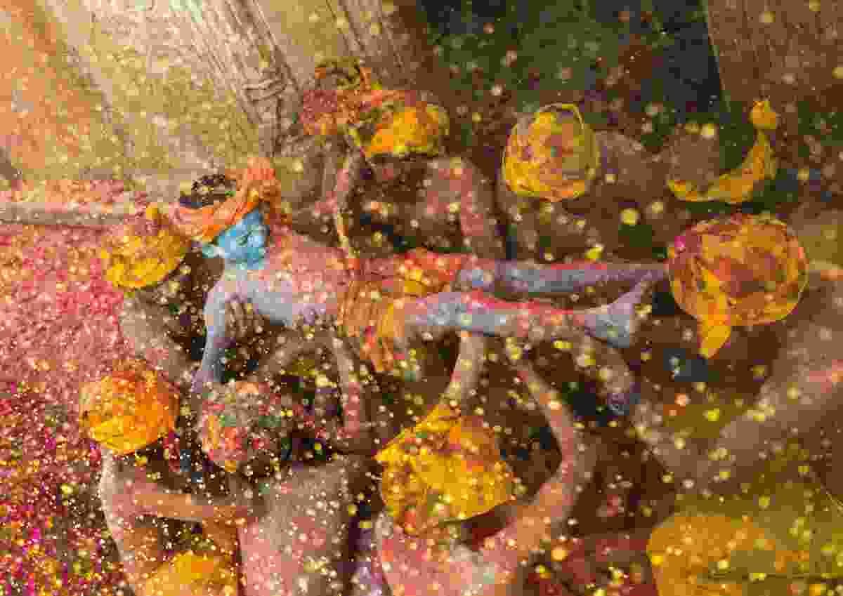 God of colours at Holi Festival in Uttar Pradesh, India (Sanghamitra Sarkar)