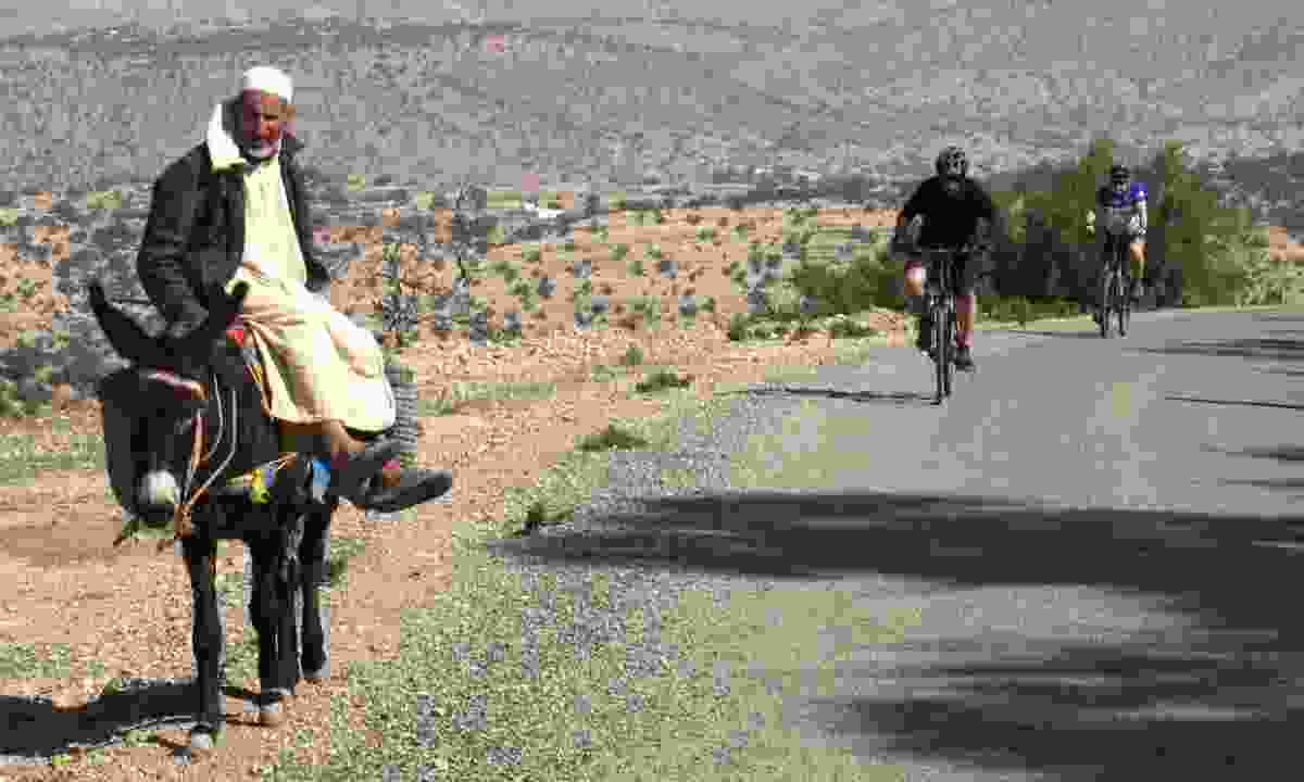 Cycling through 'traffic' in Morocco (Exodus)