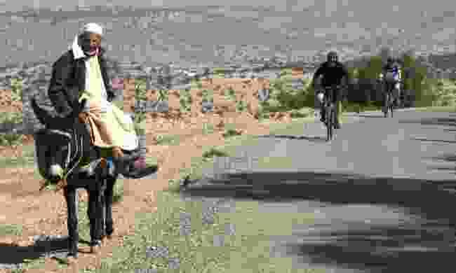 Cycling through 'traffic' in Morocco (Exodus)