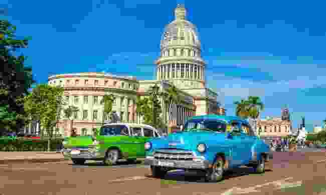 Classic American cars in Havana (Dreamstime)
