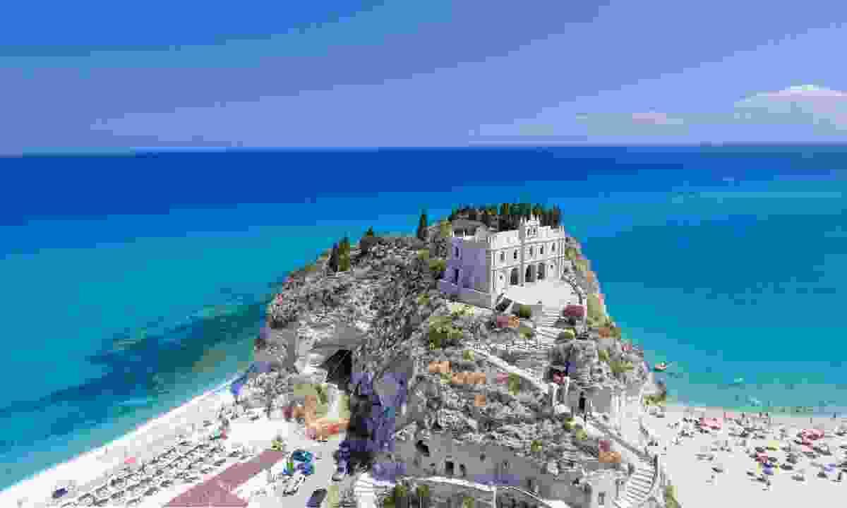 Aerial view of Tropea coastline (Dreamstime)