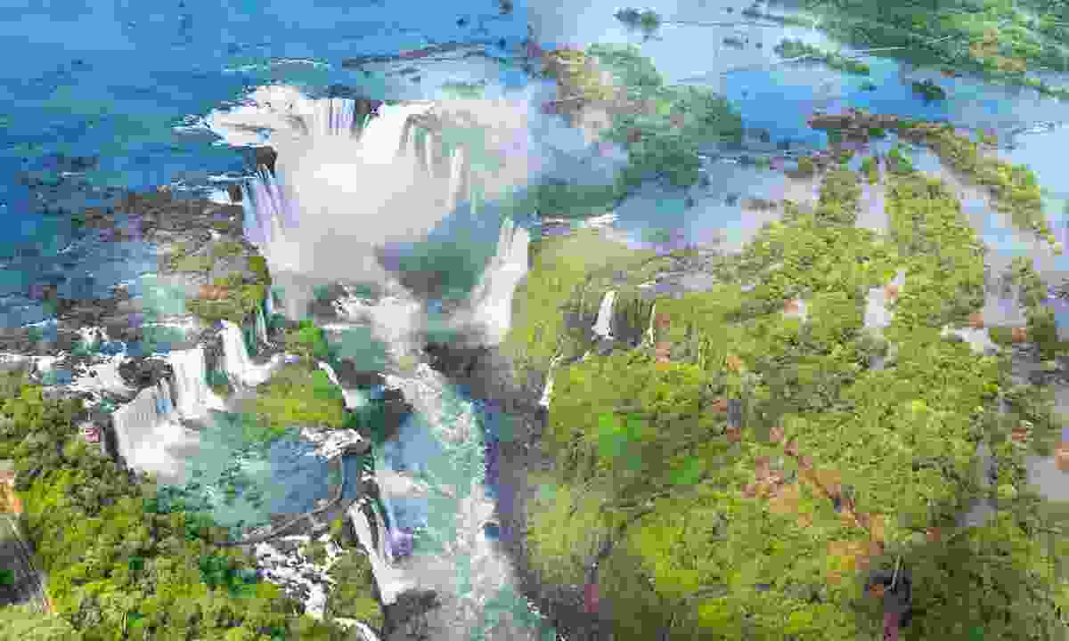 Iguazú Falls as seen from a helicopter (Shutterstock)